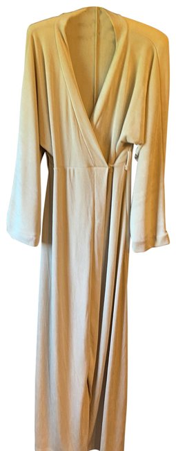 Item - Tan Slinky Belted Wrap Long Casual Maxi Dress Size 6 (S)