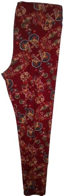 Item - Multicolor Tall & Curvy Soft Women Floral Leggings Size OS (one size)