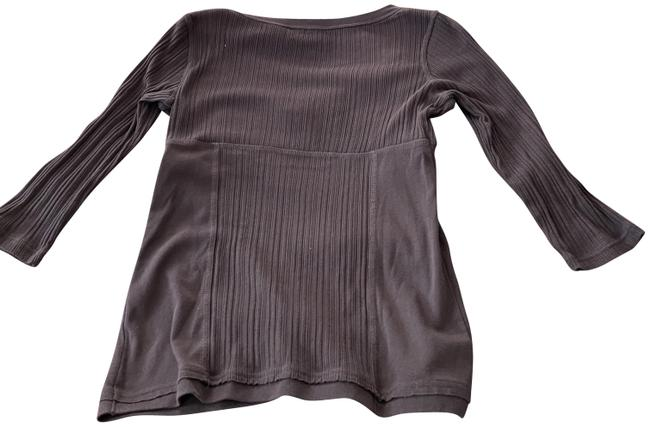 Item - Brown and White Shirt Blouse Size 6 (S)