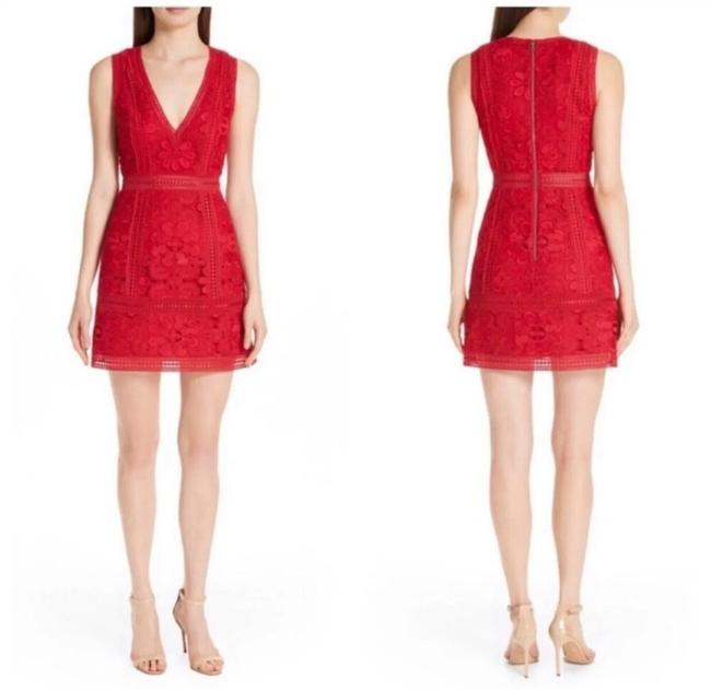 Item - Red Lace Short Casual Dress Size 0 (XS)