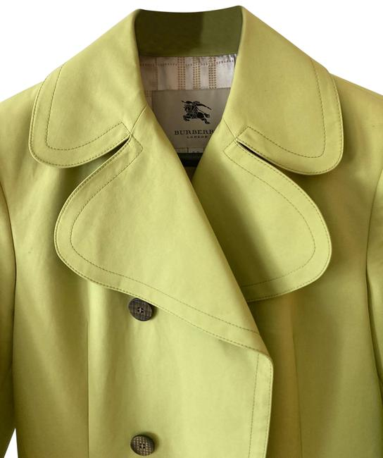 Item - Chartreuse Mid Length Trench Jacket Size 6 (S)