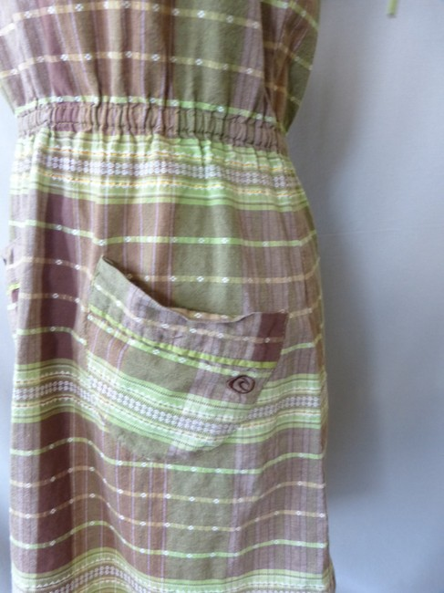 Rip Curl short dress Brown Plaid Sundress Surfer on Tradesy