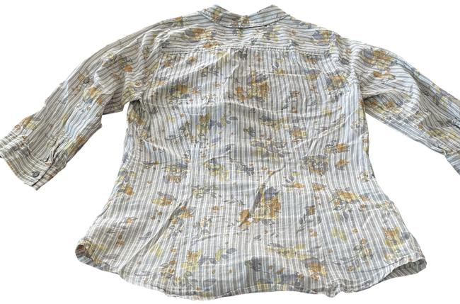 Item - Floral Pattern Long Sleeved Button Blouse Size 8 (M)