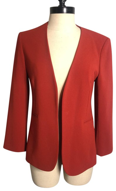 Item - Red Lindrayia Admiral Jacket Blazer Size 4 (S)