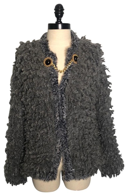 Item - Gray Limited Edition Faux Fur Jacket Size 10 (M)
