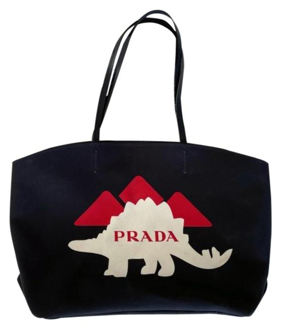 Item - Clutch Dinsosaur With Black Canvas Tote