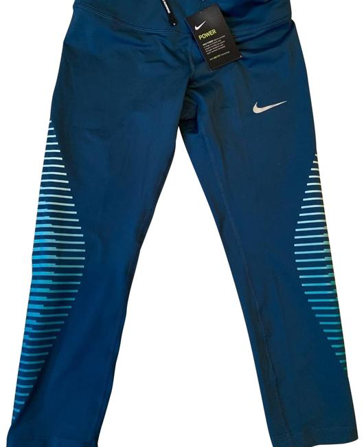 Item - Blue Epic Running Crop Tights Activewear Bottoms Size 4 (S, 27)