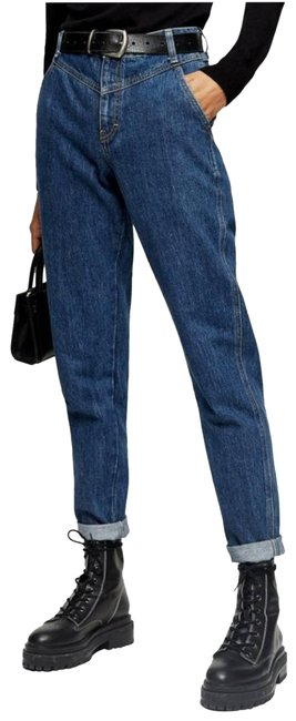 Item - Blue V-panel Relaxed Fit Jeans Size 28 (4, S)