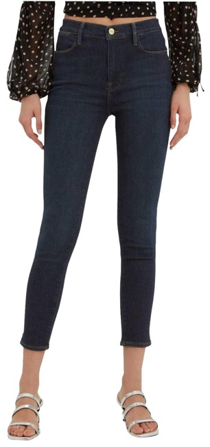 Item - Blue Le High Crop Dame Skinny Jeans Size 28 (4, S)