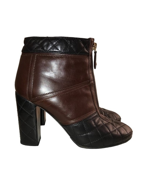 Item - Black Brown Quilted Short Ankle Boots/Booties Size EU 40 (Approx. US 10) Regular (M, B)