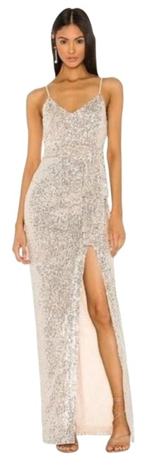 Item - Silver Revolve Emile Sequined Evening Gown Formal Dress Size 10 (M)