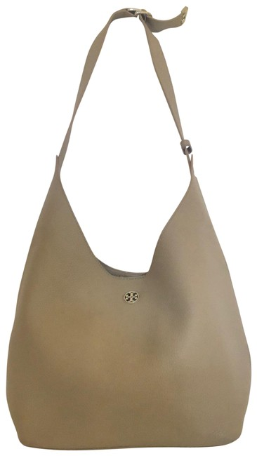 Item - Perry French Grey Leather Hobo Bag