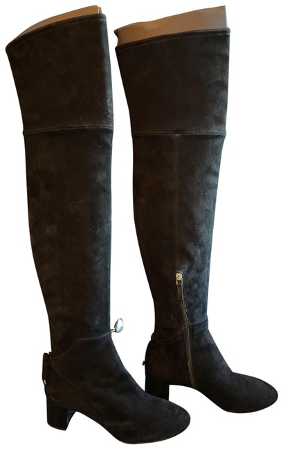 Item - Black Laila Suede Over The Knee Boots/Booties Size US 7.5 Regular (M, B)