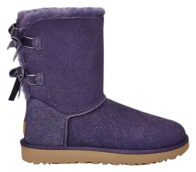 Item - Purple Bailey Bow Boots/Booties Size US 7 Regular (M, B)