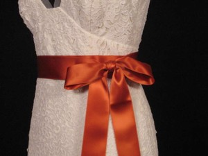 Copper Orange Ribbon Sash 2