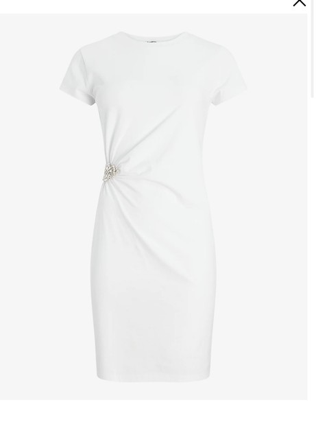 Express White Brooch T-shirt Short Casual Dress Size 12 (L) Express White Brooch T-shirt Short Casual Dress Size 12 (L) Image 2