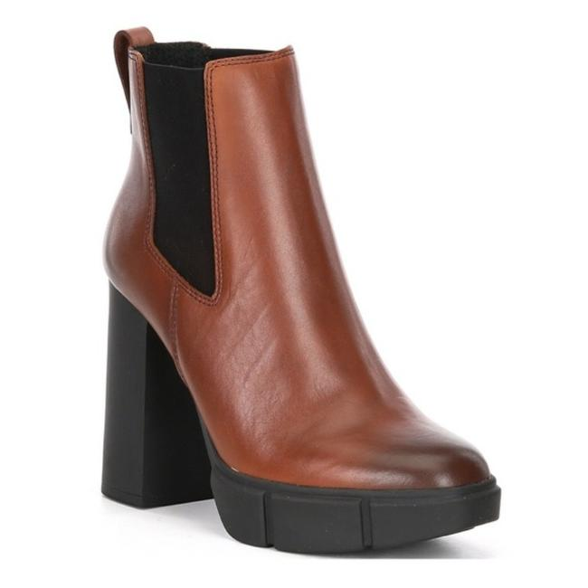 Item - Brown Revised Lug Sole Leather Heeled Ankle Chelsea Boots/Booties Size US 6 Regular (M, B)