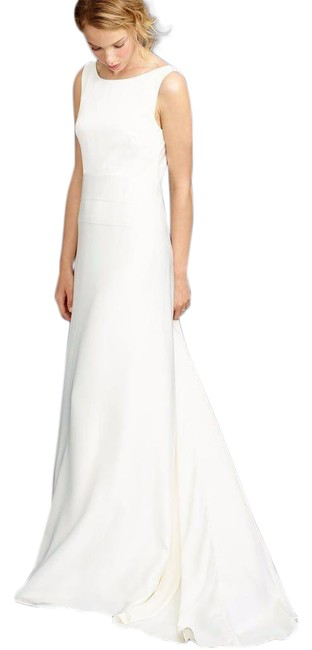 Item - White Percy Wedding Gown Train Ivory N432 Long Formal Dress Size 4 (S)