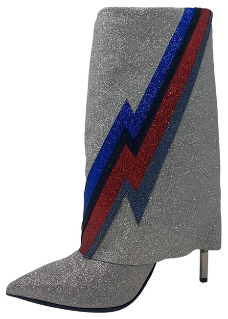 Item - Multi Silver Blue Red Black Red New Boots/Booties Size EU 40 (Approx. US 10) Regular (M, B)