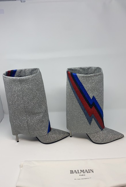 Balmain Multi Silver Blue Red Black Red New Boots/Booties Size EU 40 (Approx. US 10) Regular (M, B) Balmain Multi Silver Blue Red Black Red New Boots/Booties Size EU 40 (Approx. US 10) Regular (M, B) Image 5