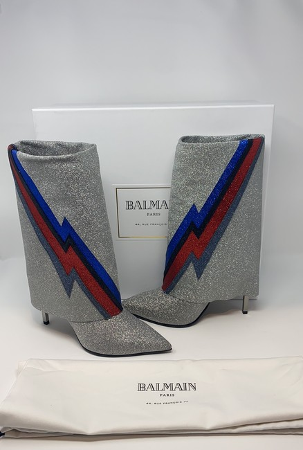 Balmain Multi Silver Blue Red Black Red New Boots/Booties Size EU 40 (Approx. US 10) Regular (M, B) Balmain Multi Silver Blue Red Black Red New Boots/Booties Size EU 40 (Approx. US 10) Regular (M, B) Image 6