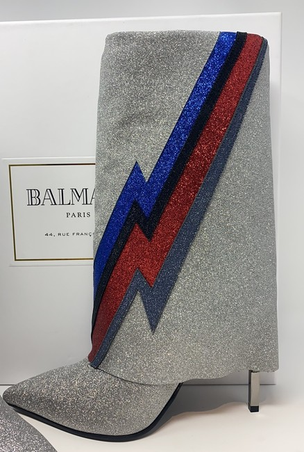 Balmain Multi Silver Blue Red Black Red New Boots/Booties Size EU 40 (Approx. US 10) Regular (M, B) Balmain Multi Silver Blue Red Black Red New Boots/Booties Size EU 40 (Approx. US 10) Regular (M, B) Image 7