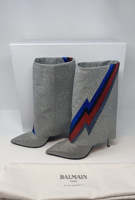 Balmain Multi Silver Blue Red Black Red New Boots/Booties Size EU 40 (Approx. US 10) Regular (M, B) Balmain Multi Silver Blue Red Black Red New Boots/Booties Size EU 40 (Approx. US 10) Regular (M, B) Image 8