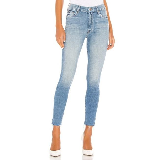 Item - Blue Medium Wash High Waisted Looker Ankle Fray In Shoot To Thrill Skinny Jeans Size 32 (8, M)