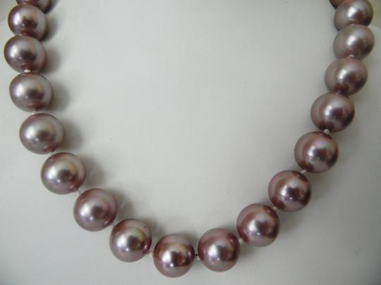 Pearlfection Pearlfection Faux Mauve South Sea Pearl Necklace