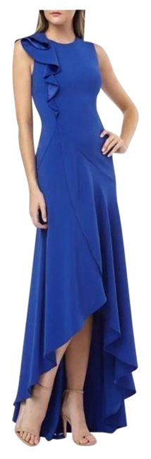 Item - Infusion Ruffle Shoulder High/Low Gown Formal Dress Size 8 (M)