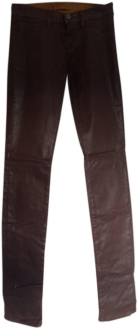 Item - Brown Coated Straight Leg Jeans Size 26 (2, XS)