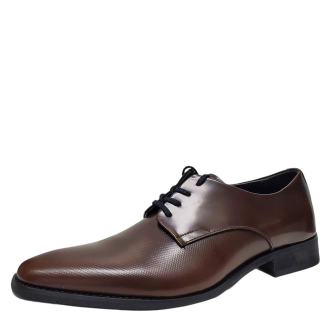 Item - Tan Mens Ramses Oxfords Textured Leather Formal Shoes Size US 11.5 Regular (M, B)