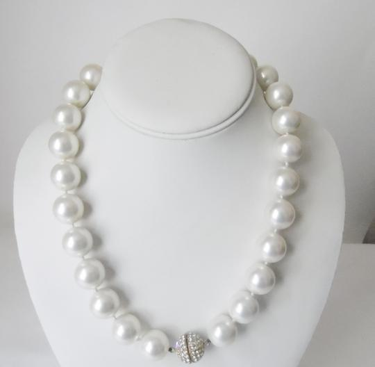 Pearlfection Pearlfection Faux White South Sea Pearl Necklace
