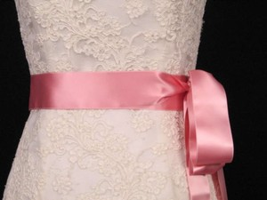 Dusty Rose Pink Ribbon Sash 2