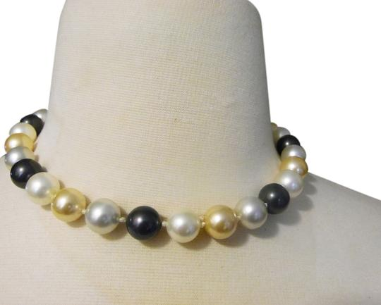Pearlfection Pearlfection Faux South Sea Multicolor Pearl Necklace