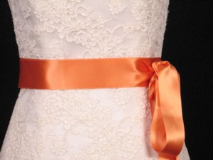 Dark Apricot Orange Ribbon Sash