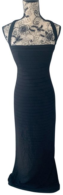 Item - Black Pleated Gown Long Formal Dress Size 4 (S)