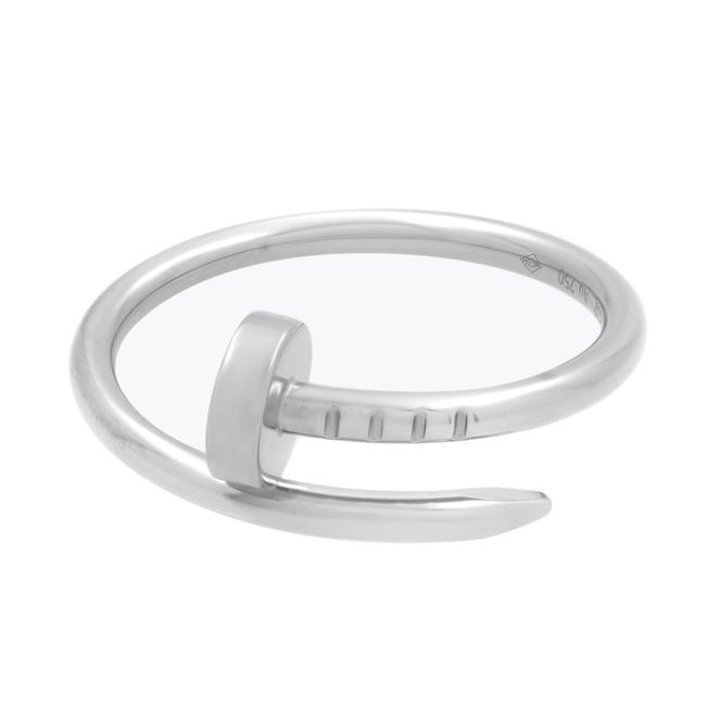 Item - 18k White Gold Juste Un Clou Small Size 52 Us 6 Ring