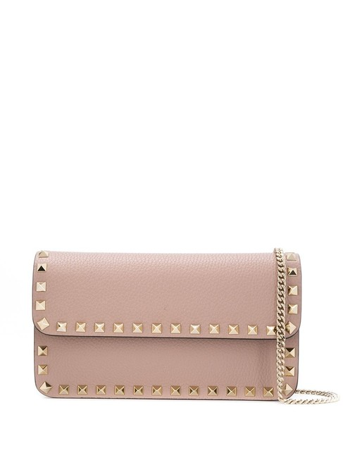 Item - Crossbody Rockstud Small On Chain Pouch Beige Leather Shoulder Bag