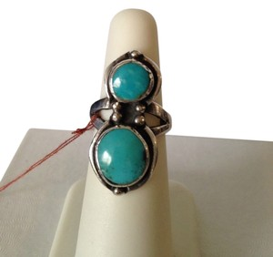 Sleeping Beauty Turquoise In Sterling Silver Ring, Size 6.5