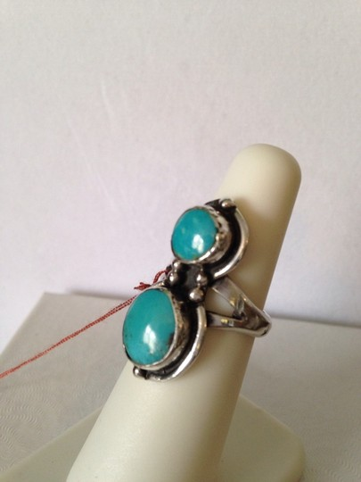 Other Sleeping Beauty Turquoise In Sterling Silver Ring, Size 6.5 Image 2