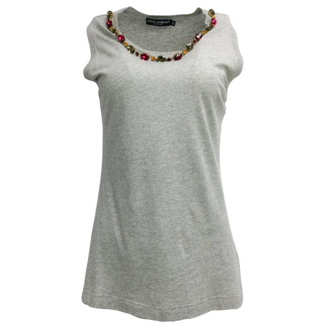 Item - Grey Bejeweled Blouse Size 6 (S)