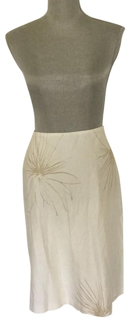 Item - White and Cream Cotton Skirt Size 10 (M, 31)