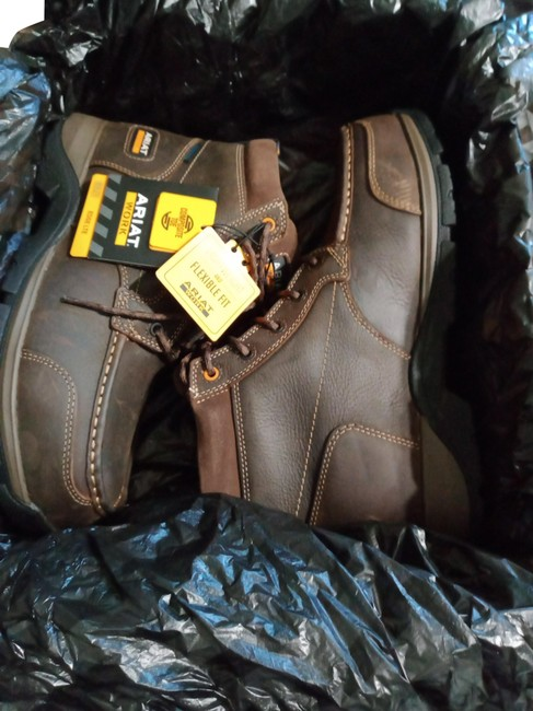 Item - Brown Work Edge Lte Chukka H2o Comp Toe Boots/Booties Size US 8 Wide (C, D)
