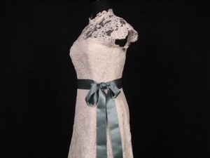 Teal Green Ribbon Sash 2