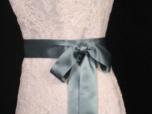 Teal Green Ribbon Sash 2 3/4