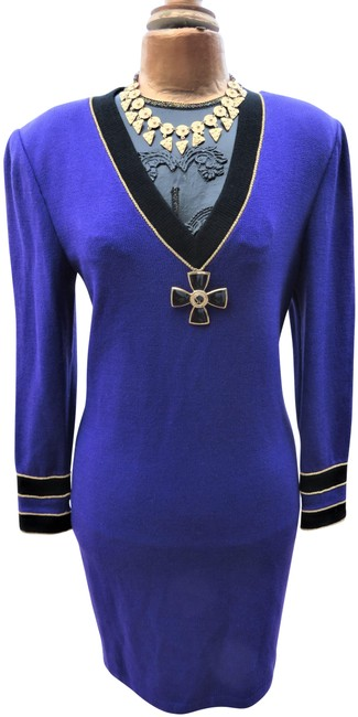 Item - Purple Collection Mid-length Short Casual Dress Size 8 (M)