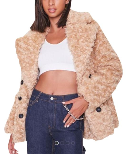 Item - Tan Boucle Faux Buttoned Small Coat Size 6 (S)