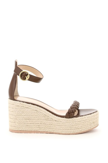 Item - Brown Leather with Rope Platform Sandals Size EU 39 (Approx. US 9) Regular (M, B)