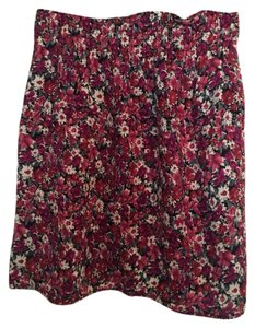 Aqua Skirt Purple Floral